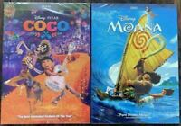 Moana  + Coco DVD  Brand New Free Shipping USA Seller