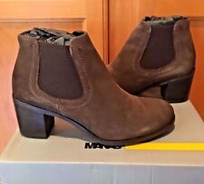 NEW Womens Manas T-Moro Brown Suede Ankle Boot Bootie US 9 M EU 39 $299