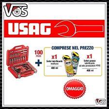 USAG 601 1/4-1/2 J100 CASSETTA SERIE CHIAVI A CRICCHETTO A BUSSOLA E TORX 100 PZ