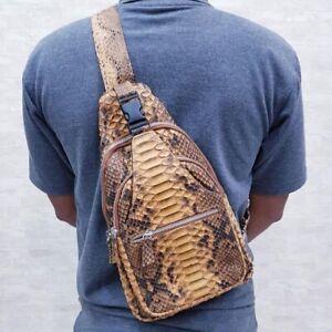 Crossbody bag made of genuine phyton snake skin handmade BESPOKE/MADE by ORDER
