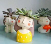 Flower Home Garden Vase Cute Lady Pattern Plant Pots Mini High Quality Accessory