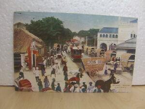 Lipton tea Series Postcard c1910 Street Scene Colombo Ceylon