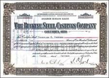 Buckeye Steel hand signed George Bush's Great Grandfather, Samuel P. Bush