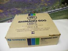 Shimano 600 EX hubset from the late 1970's ,NOS 6 speed including cassette