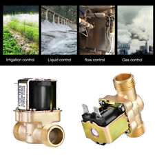 """1/2"""" AC 220V Normally Closed Brass Electric Solenoid Magnetic Valve High Quality"""