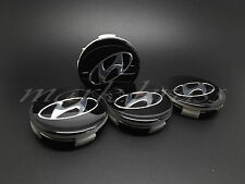 SET 4x63mm Black Hyunday Wheel Alloy Center Caps Hyundai Sonata i45 YF TUCSON