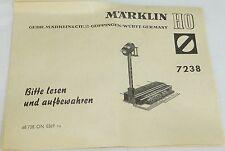 Märklin 7238 Manuel 68 738 ON 0369 ru