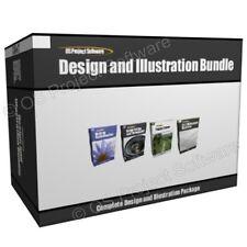 Design Illustration Image Photograph Editing Software Program Bundle