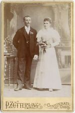 WEDDING PORTRAIT BY ZUTTERLING, CINCINNATI, OHIO, CABINET CARD