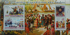 Vasco da Gama - First Expedition to India s/s Tchad 2011 MNH #tchad2011-11