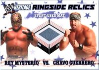 WWE Rey Mysterio vs Chavo Guerrero 2007 Topps Heritage Event Used Mat Card DWC2