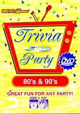 DREW'S Famous: 80's & 90's TRIVIA PARTY GAME INTERACTIVE DVD: FUN FOR ANY PARTY!