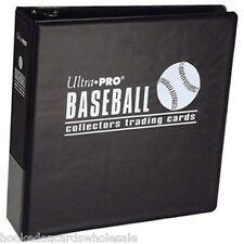 "Ultra Pro 3"" Black Baseball Trading Card Album Binder New"