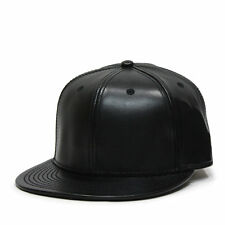 acae62328 Strapback Faux Leather Men's Baseball Caps for sale | eBay