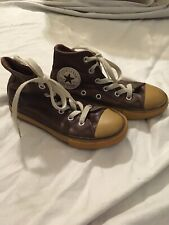 Kids Size 12 Leather Converse Brown Chuck Taylor All Star Sneakers Girls Boys