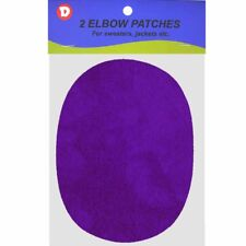 Two Faux-Suede Iron-On Elbow Patches 4.5  x 5.5 in - Purple