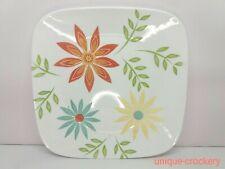 Corelle Vitrelle Glass Happy Days Chip & Break Resistant Square Dinner Plate