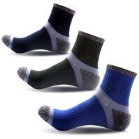 3pcs/set Mens Sport Soft Nap Socks Quarter Cotton Ankle Casual Breathable Sock