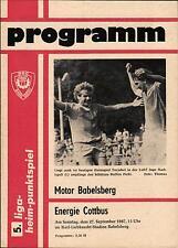 DDR-Liga 87/88 BSG Motor Babelsberg - Energie Cottbus, 27.09.1987