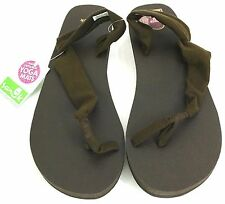 Sanuk Yoga Sling It On Flip Flops Sandals Women Brown Size 11 USA 42 EUR