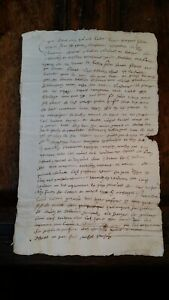 1620 ANTIQUE EARLY 17TH CENTURY FRENCH MANUSCRIPT