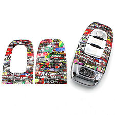 Stickerbomb Folie Dekor Schlüssel Audi C Schlüsselhülle Schlüsselfolie A4 RS4