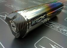 Honda VFR 800 98 99 00 01 02 Colour Titanium Tri Oval, Carbon Outlet Exhaust Can