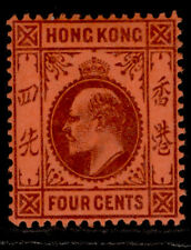 HONG KONG EDVII SG64, 4c purple/red, M MINT. Cat £27.