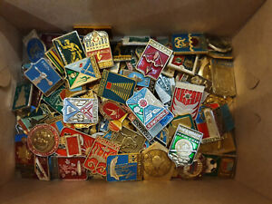 Set 100 Pcs of LOT COLLECTION RUSSIAN SOVIET BADGE PIN USSR Russia