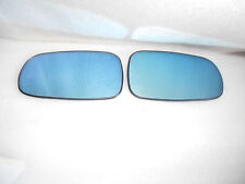 BLUE TINTED Side mirror glass Heated W/Holder For Saab 9-3 93 9-5 95 L+R 1 Set