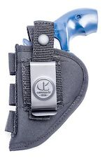 """Nylon Belt Holster 2"""" Revolvers,  S&W 43 60 317 340 351 442 638 640 649"""
