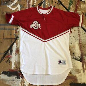 VTG Ohio State Buckeyes Mens Basketball Team Issued Warm Up Shirt Champion 48