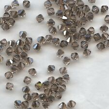 T4 5301 LPY  *** 30 toupies cristal Swarovski 4 mm LIGHT PEACH SATIN