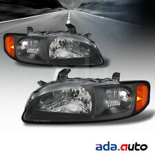 For 2000 2001 2002 2003 Nissan Sentra [Factory Style] Black Headlights Pair