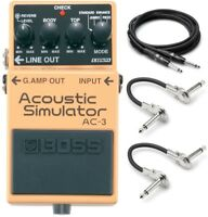 New Boss AC-3 Acoustic Simulator Guitar Effects Pedal! w/ Hosa Cables