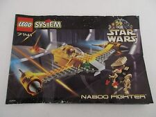 Manuel Instructions LEGO SYSTEM STAR WARS - 7141 NABOO FIGHTER
