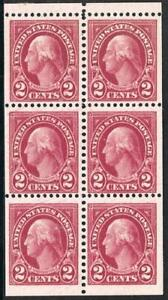 #634d 2c GEORGE WASHINGTON VF MNH BOOKLET PANE 6!