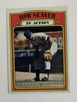 1972 Topps Tom Seaver # 446 Baseball Card New York Mets In Action HOF