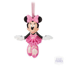Disney Parks Exclusive Minnie Mouse Pink Ballerina Ornament Nwt
