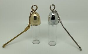 sniff sniffer bottle with chain in gold and Silver