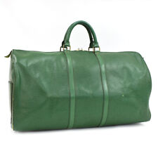 Auth LOUIS VUITTON Epi Keepall Bandouliere 60 M42944 Traveling bag Green Leather