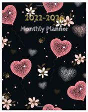 2022 2026 Monthly Planner 5 Year Calendar Organizer Journal Pink Hearts Flowers