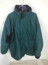 COLUMBIA Long's Peak Green 3 in 1 Parka Shell & Fleece Mens Large Vintage Warmth