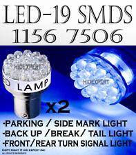 4 pcs 1156 1093 1259 LED 19 SMDs Super Blue Replace Parking Light Bulbs D224