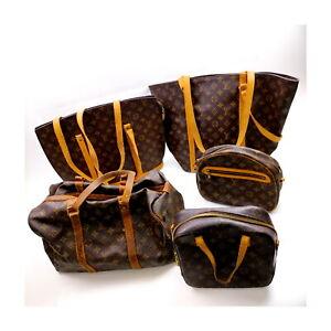 Louis Vuitton Monogram Shoulder/Hand Bag 5 pieces set Sac Souple 35 522774