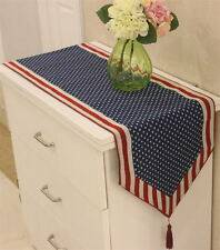 Stars and Stripes American Flag Table Runner Long Table Cloth