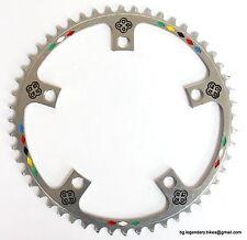 Vintage Race Bike Eroica OFMEGA CHAINRING 144 bcd Panto Engraved CIOCC LOGO 52T