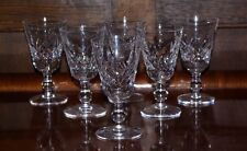 6 Stuart Cut Crystal Glengarry Cambridge Glasses Signed Port Wine Sherry 4""