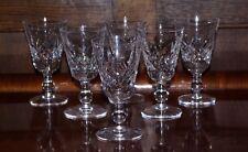 "Set of 6 Stuart Cut Crystal Port Wine Glasses 4"" Glengarry Cambridge Signed"