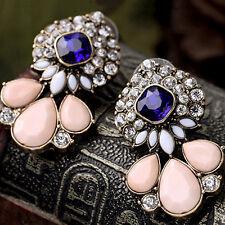 Women's Vintage Waterdrop Rhinestone Ear Studs Earrings Banquet Jewelry Enticing